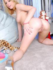 Pictures of Lexi Belle playing with her toys