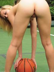 Madison Lain is a basketball star that specializes in stripping down and cumming hard on the courts