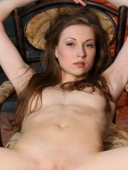 Flexible Annetta A stretches out in the nude showing off her flexible body