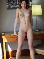 The beautiful Ardelia A gets naked for you in her hotel room