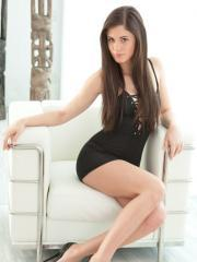 Beautiful girl Caprice removes everything except for her high heels