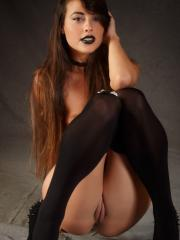 "Pretty girl Lorena Garcia shows her goth side in ""Sioneca"""