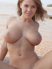"Busty beauty Viola Paige gets naked for you on the beach in ""Tasiera"""