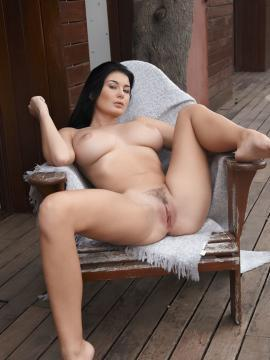 """Busty hottie Lucy Li spreads her legs for you outisde in """"Enplau"""""""