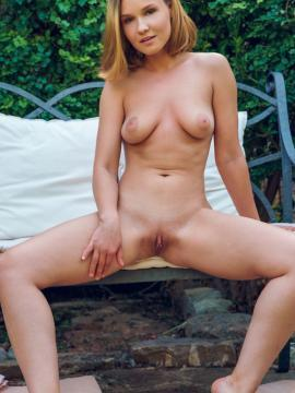 Lucretia K gets nude outside in Lounge With Me