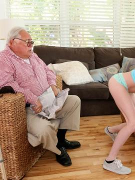 "Chloe Foster and Jane Wilde in ""Old Man's Sneaky Nurse  Gets Perverse"""