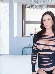 Busty babe Kendra Lust gets her tight pussy nailed hard