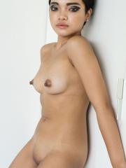 Nude model Bee shows off her nude body