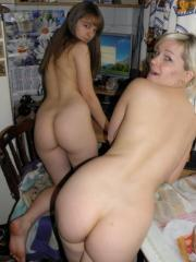 Lesbian teens playing with each other in the nude
