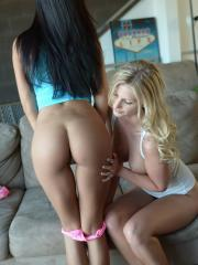 Pictures of Natalie Tyler getting some hot action from Janessa Brazil