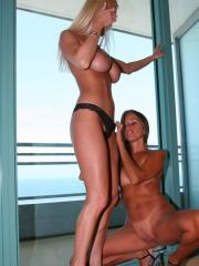 Naughty Allie gets together with Lori Anderson for some hot lesbian fun