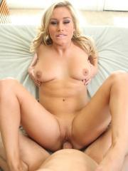 Blonde babe Kennedy Leigh gives some hot pov sex