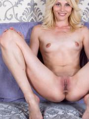 Horny amateur Cardelia pokes her tight juicy twat with her finger