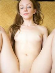 Adorable sweetheart Maya S gives you an up close view of her soft pink pussy