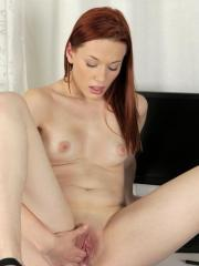Fresh amateur Amber Cute bends over to finger herself to climax