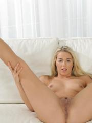 Beautiful coed Christen Courtney masturbates with her vibrator