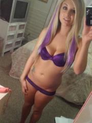 Blonde babe shares some sexy selfies in her underwear