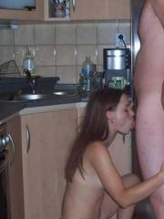 Picture compilation of a chick enjoying a hot oral sex in a cottage