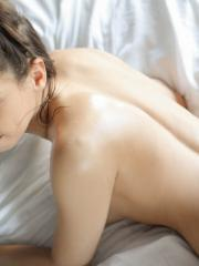 Sara Luvv gets a sensual massage that ends up leading to a little be more