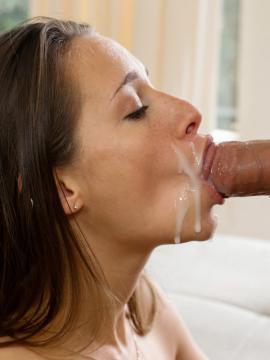 Young brunette Cassidy Klein can't wait for her man to wake so she can ride his hard dick
