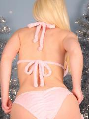 Blonde teen Sexy Pattycake invites you into her winter wonderland