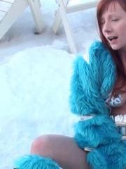 Screen Caps of Sexy Pattycake getting off in the snow