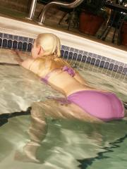 Blonde teen Sexy Pattycake gets all wet just for you