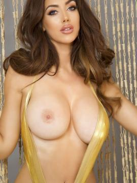 Big tits glamour model Cara Rose  posing topless for you