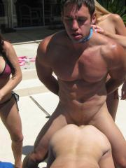 Teagan Summers and her hot friends have their way with a poor guy