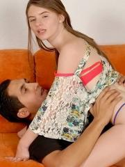 Teen girl Alice March gets picked up at a park and taken home to be fucked hard