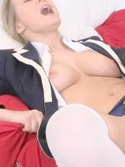 Pictures of blonde school girl Natalia Starr enjoying a hot fuck