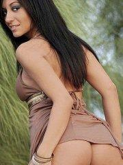 Pictures of Raven Riley exposing herself outside