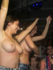 Wild college girls get naughty at a bar