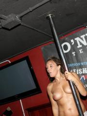 Naughty college girls get wet and wild at a bar