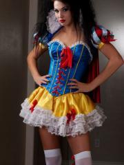 Pictures of Reanna Mae giving you a sexy Snow White cosplay set