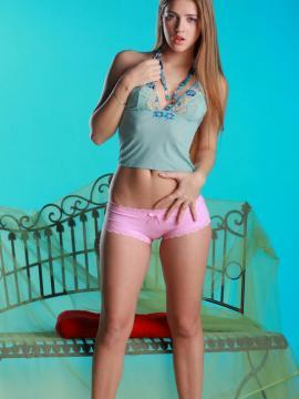 """Pretty teen Hene A strips and plays with herself in """"Dream"""""""