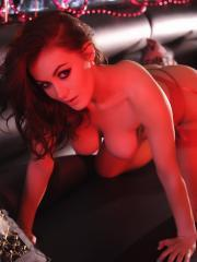Summer St Claire shows you her hot natural tits in the vip lounge