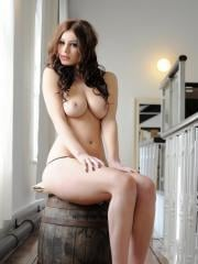 Summer St Claire strips down to her thong and heels on a keg