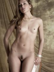 Sweet Lilya poses nude for you in Vintage