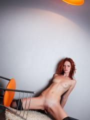 """Redhead babe Vetta poses in her lingerie for you in """"Red Hot"""""""