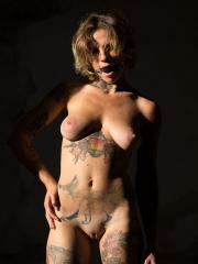 """Busty alt babe Stacy Cloud gags and strips for you in """"Sinner"""""""