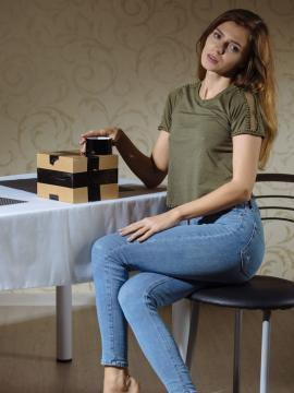 """Hot teen Kalisy gives you her nude body in """"Gift Wrapped"""""""