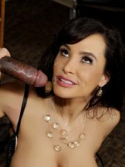 Prison guard Lisa Ann punishes her black inmate