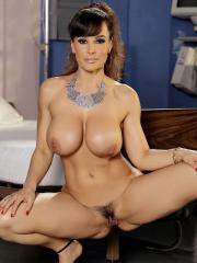 Busty Lisa Ann strips naked for you in the bedroom