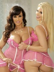 Anikka Albrite and Lisa Ann get together for a glam shoot before their real fun