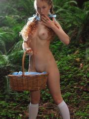 Hot redhead Dolly Little dresses up as Dorthy