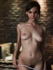 "Brunette beauty Lara Maiser strips naked for you in ""Late Night Gallery"""