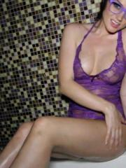 Tori Black is horny and masturbates in the shower