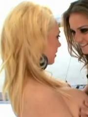Tori Black and Kagney Linn Karter go down on each other