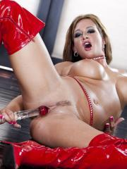 Pictures of Tory Lane toying her tight pussy on the floor